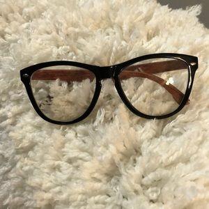 Non prescription clear oversized glasses